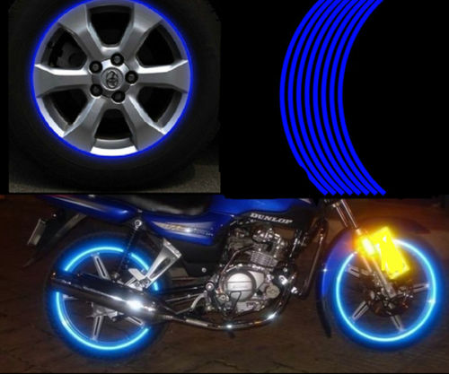 "17"" WHEEL RIM REFLECTIVE STRIPE DECAL STICKERS"