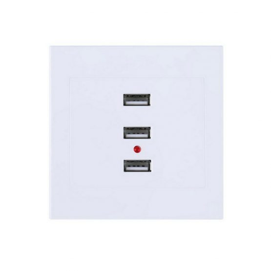 3 Port USB Smart Power Charger Sockets 220V To 5V For Cell Phone/PC