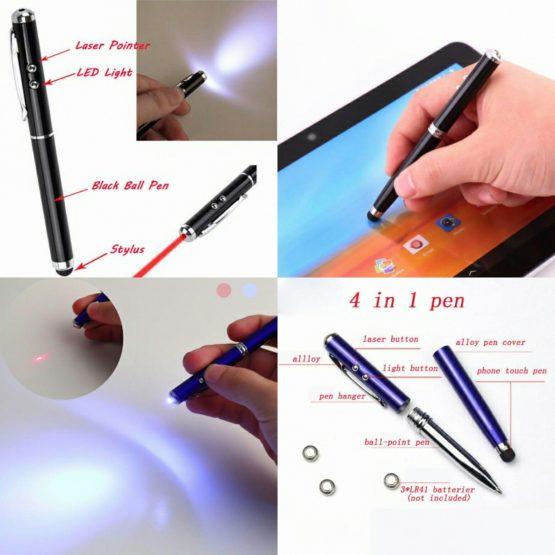 4-in-1 LED Light Stylus Pen Laser Pointers